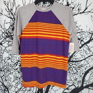 4/$25 LuLaRoe Sloan Kids Top Colorful Striped sz12